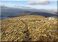 NN0344 : West ridge of Meall Garbh by Richard Webb