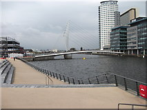 SJ8097 : Footbridge at Media City by John Haynes