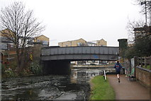 TQ3681 : Regents Canal - Victory Bridge by N Chadwick