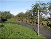 SK5447 : Byway signpost at Hucknall Lane by John Sutton