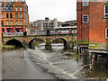 SK3587 : River Don, Wicker Weir and Lady's Bridge by David Dixon