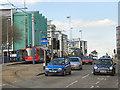 SK3487 : The University Tram Stop, Upper Hanover Street by David Dixon