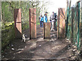 SK3289 : RSJs as a vehicle barrier, Loxley Valley Walk by Robin Stott