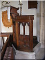 TM3961 : Pulpit of St.Mary Magdalene Church, Sternfield by Adrian Cable