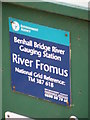 TM3861 : Benhall Bridge Gauging Station sign by Adrian Cable