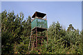 NT6426 : An observation tower at Pond Wood by Walter Baxter