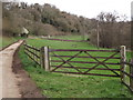 SU9444 : Barred Gate by Eashing Copse by Colin Smith