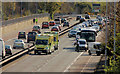 J3675 : Road traffic accident, Sydenham, Belfast by Albert Bridge