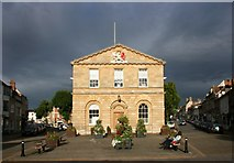 SP4416 : Town Hall Before the Storm by Des Blenkinsopp