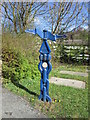 NZ1665 : A national cycle route marker by Ian S