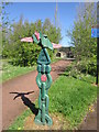 NZ2063 : A national cycle route marker at scotswood by Ian S