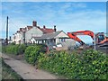 TG3830 : Condemned Houses, Beach Road, Happisburgh, Norfolk by Kevin Thomas