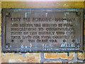 SD7933 : Plaque, Memorial Park by David Dixon