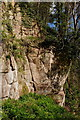 NT2762 : Rosslyn Castle walls and sandstone outcrop by Jim Barton
