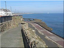 NZ3672 : Ramp down to the Lower Promenade, Whitley Bay by Oliver Dixon