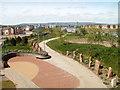ST3286 : Riverside walk near City Bridge, Newport by Jaggery