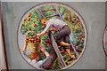 TQ5104 : Apple Picking, Screen Painting, Berwick church by Julian P Guffogg