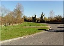 TM3464 : Grass verge on B1119 at Rendham, Suffolk by nick macneill