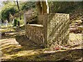 TQ2272 : The Ismay plot, Putney Vale Cemetery: the bench by Stefan Czapski