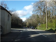 SX4975 : Parkwood Road (A386) and former toll house by David Smith