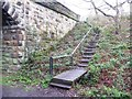 NZ1356 : Footpath steps up to the Parklands bridge by Christine Johnstone