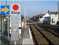 SH5639 : A view from the eastern end of Porthmadog railway station by Jaggery