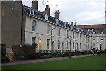 TR1457 : Terraced houses, Dane John Gardens by N Chadwick