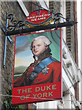 TQ3279 : Duke of York sign by Oast House Archive