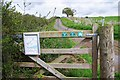 SO7780 : Signs on gate at start of farm track, near Upper Arley by P L Chadwick