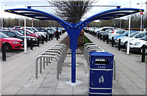 NT1772 : Bike park, The Gyle shopping centre by michael ely