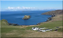 NG4074 : Duntulm Hotel with Tulm Bay and Island by Mike Dunn
