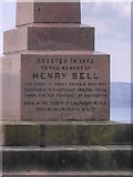 NS2982 : Base of Henry Bell Monument by David Dixon