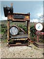 SY2596 : Lyme Bay Winery - disused hydraulic press by Chris Allen