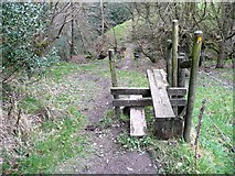 SE0421 : Stile on Ripponden Footpath 65 by Humphrey Bolton