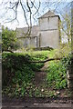 ST8194 : Newington Bagpath church by Philip Halling