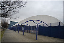 TQ3979 : Covered area, London Soccer Dome by N Chadwick