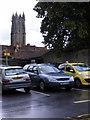 ST4938 : Glastonbury Car Park by Gordon Griffiths