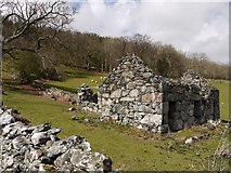 SH7519 : Ruin beside minor road near Dolgellau by Trevor Littlewood