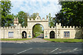 SK9799 : Redbourne Hall gateway by Richard Croft