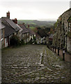 ST8622 : Gold Hill, Shaftesbury, Dorset by Christine Matthews