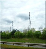 SK3030 : Pylons from the A50 by Anthony Parkes