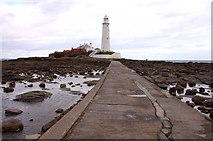 NZ3575 : The causeway to St Mary's Lighthouse by Steve Daniels