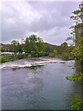 SE1338 : River Aire, Saltaire by Paul Buckingham