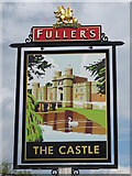 TQ2081 : Sign for The Castle, Victoria Road / Wales Farm Road, NW10 by Mike Quinn