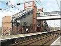 NS3527 : Prestwick station, Platform 1 by M J Richardson