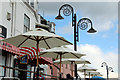 SY3491 : Sunshades and Lamps, Lyme Regis, Dorset by Christine Matthews