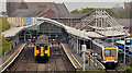 J5081 : Withdrawn train, Bangor by Albert Bridge