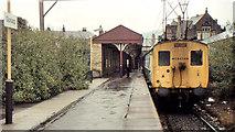 SK0394 : Glossop station (1983) by Albert Bridge