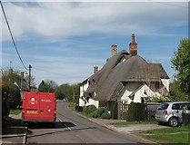 TL3852 : Harlton: post van in Eversden Road by John Sutton
