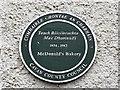 H3617 : Plaque, McDonald's Bakery, Belturbet by Kenneth  Allen